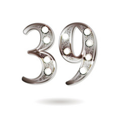 39 years anniversary celebration design vector