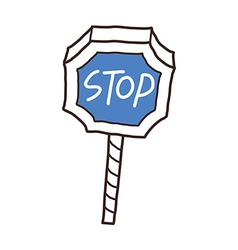 A stop sign stand on vector