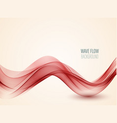 Abstract red wave on background red wave vector