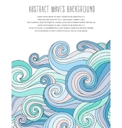 Abstract waves background Template for business vector