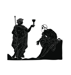 ancient greek god dionysus vector image