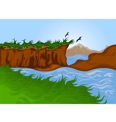 Beautiful nature landscape background vector image