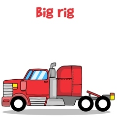 Big rig truck of vector
