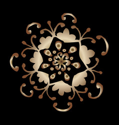 black background with gold oriental vector image