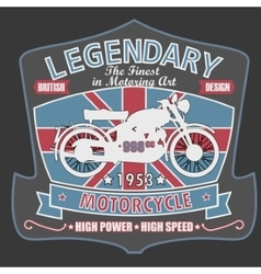 British Motorcycle T-shirt Design vector image