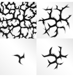 Cartoon cracks in four stages vector image
