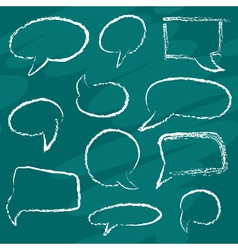 Chalk speech bubbles vector