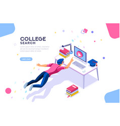 College search university banner vector
