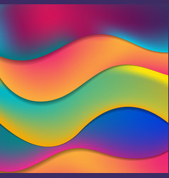 Colorful elegant fluid waves abstract background vector