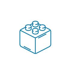 constructor block linear icon concept constructor vector image