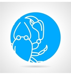 Crayfish round icon vector
