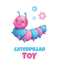 Cute cartoon caterpillar stuffed toy baby vector