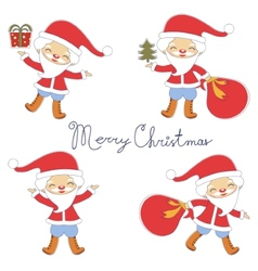 Cute Santas collection vector