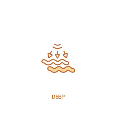 Deep concept 2 colored icon simple line element vector
