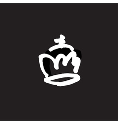 Drawn crown vector