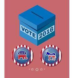 Election 2016 Elephant versus Donkey Banner vector