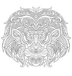 entangle stylized cartoon lion mask vector image