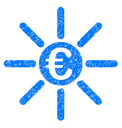 Euro distribution grunge icon vector