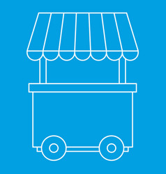 fast food trolley wheel icon outline style vector image