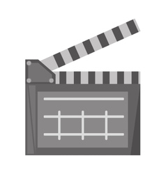 Film clapper chalkboard scene icon vector