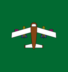 Flat icon design collection military heavy bomber vector
