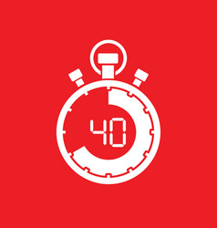 forty minute stop watch countdown vector image