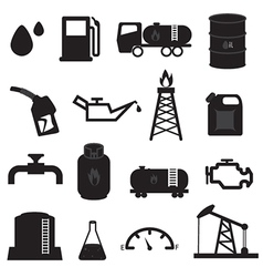Fuel Oil and Gas Icons Set vector