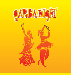 garba night poster design vector image