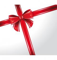 gift wrap ribbon vector image