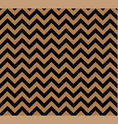 gold and black zig zag seamless pattern vector image