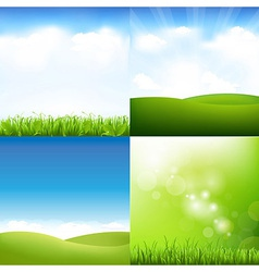 Grass and sky set vector