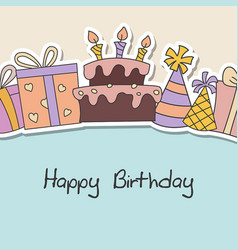 happy birthday card happy birthday card vector image
