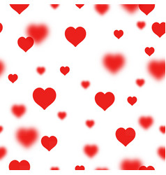 Hearts bokeh valentine s day abstract background vector