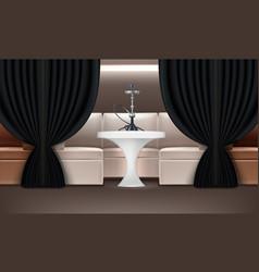 Hookah lounge interior vector