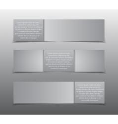 Horizontal Rectangle Grey Paper Banner Mockup vector image