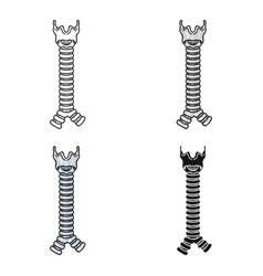 Human trachea icon in cartoon style isolated on vector