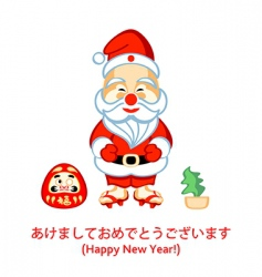 Japanese Santa vector image