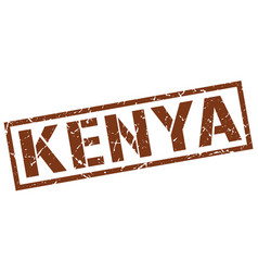 Kenya brown square stamp vector