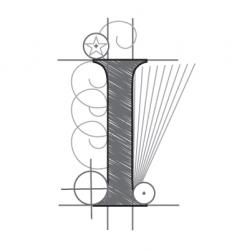 Letter i vector