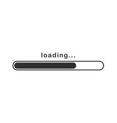 Loading bar icon downloading up load process vector