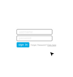 login login user interface member login template vector image