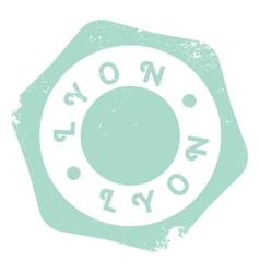 Lyon stamp rubber grunge vector