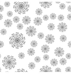 mandala seamless pattern on white background vector image