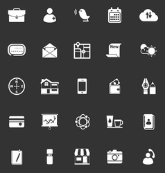 Mobile icons on gray background vector image
