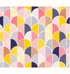 modern abstract seamless geometric dotted pattern vector image