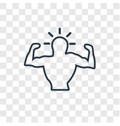 muscle concept linear icon isolated on vector image