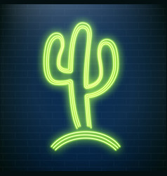 neon cactus lamps beach party led tequila sign vector image