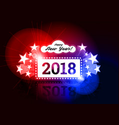 New year marquee 2018 vector