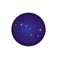 Night sky with stars icon cartoon style vector image