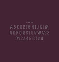 original hollow sans serif font vector image